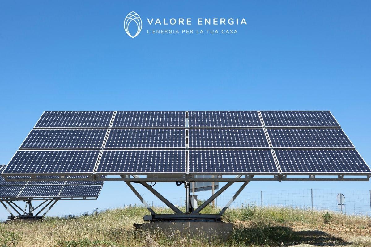 pannelli solari su terreno